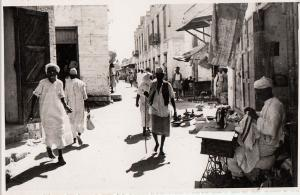Africa Ethiopia Eritrea Massaua street tailor ethnic types real photo postcard