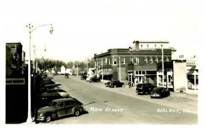 IL - Walnut. Main St   *RPPC