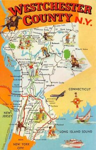 Maps Westchester County New York, USA Unused