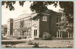 Wautoma WI~County Training School (Recently Demolished, I Believe) RPPC 1940s