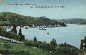 turkey, CONSTANTINOPLE, Bosphorus, Vue d'Arnaoutkeny et de Bébek (1910s)