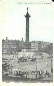 Paris, France, Carte, Postcard La Bastille et la Colonne de Juillet  La Basti...