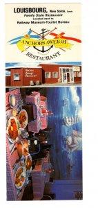 Anchors Aweigh Restaurant, Louisbourg Nova Scotia Vintage Postcard