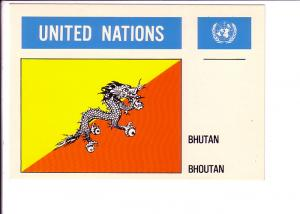 Bhutan, Flag, United Nations,