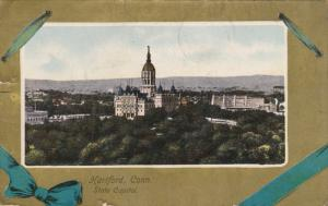 Birds Eye View, State Capitol Building & Grounds, Hartford, Connecticut 1900-10s