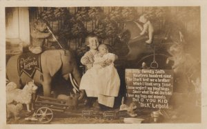 RP: CLEARFIELD , Pennsylvania, 1909 , Girl , Toys & New Baby Brother