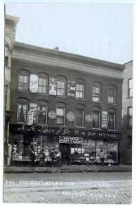 Jackson MI 5 & 10 Store Great Signage Very Clear RPPC Real Photo Postcard Shop