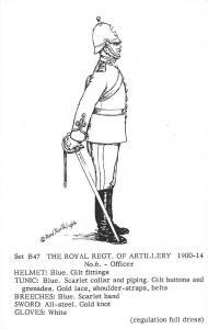 Set B47 The Royal Regt. of Artillery 1900-14 No. 6 Officer