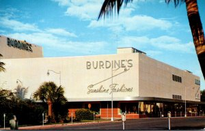 Florida Miami Beach Burdine's Meridian At Seventeenth 1956