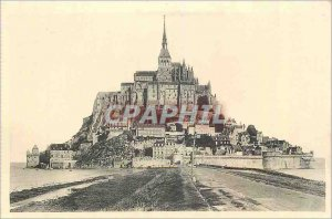 Postcard Abbey of Mont Saint Michel General view south side
