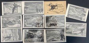 11 Postcards Complete Set 1936 Germany Olympics Winter Sports Garmisch