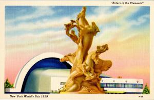 NY - New York World's Fair, 1939. Riders of the Elements Statue