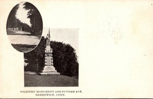 Connecticut Greenwich Soldiers Monument and Putnam Avenue