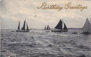 Sailing Vessels Birthday Greetings , PU-1909