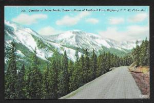 Snow Peaks Eastern Slope Berthoud Pass Hghway US 40 Colorado Unused c1930s