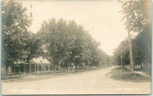 KAHOKA Missouri RPPC Real Photo Postcard A STREET SCENE Houses c1920s