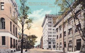 Main Street At Corner Of James Street, Hamilton, Ontario, Canada, 1910-1920s