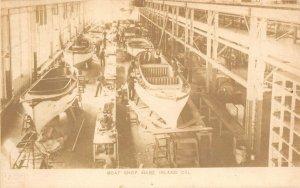 Boat Shop, Mare Island Navy Yard, Vallejo, California ca 1907 Vintage Postcard