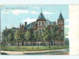 Pre-1907 HIGH SCHOOL Eau Claire Wisconsin WI n6246