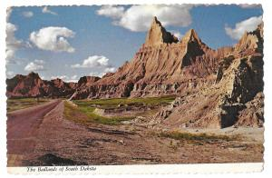 South Dakota Badlands 1975 Vintage 4X6 Postcard SD
