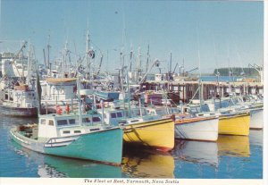 Canada Fishing Fleet At Rest Yarmouth Nova Scotia