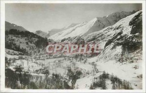 Postcard Old Valloire Winter Sports slopes Setaz des Pres