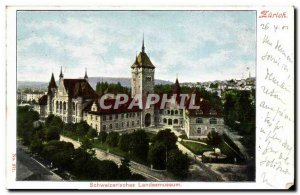 Old Postcard Switzerland Zurich Schweizrisches Landesmuseum