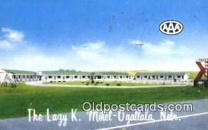 Lazy K. Motel, Ogallala, NE, USA Motel Hotel Postcard Post Card Old Vintage A...