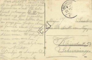 czech, MĚROTIN, Multiview, Fára, Kostel, Skola (1912) Postcard