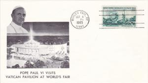Cover: Pope Paul VI Visits Vatican Pavilion at Worlds Fair , New York Coty , ...