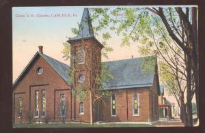 CARLISLE PENNSYLVANIA PA. GRACE UNITED BRETHREN CHURCH VINTAGE POSTCARD