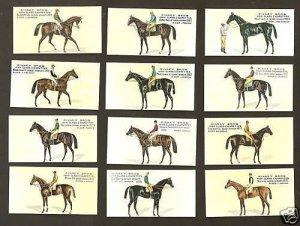 Famous Racehorses Horse Race Cigarette Cards Kinney Bros Full Set