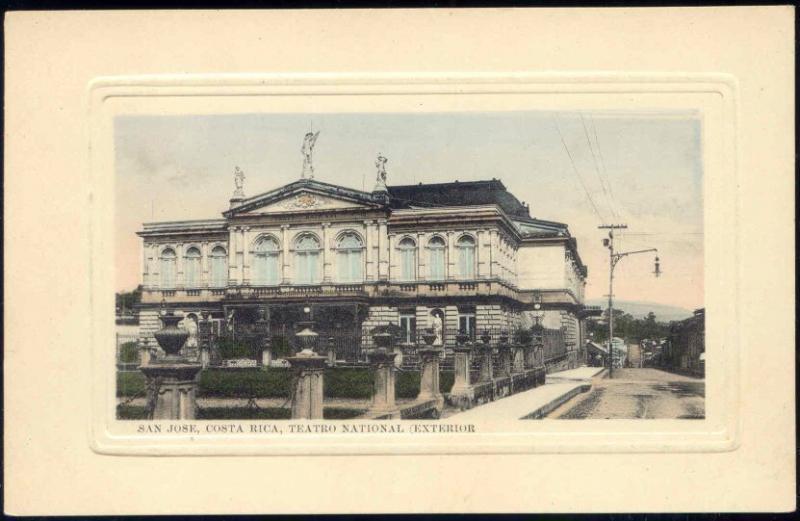costa rica, SAN JOSE, Teatro National Exterior, Theatre (1916)