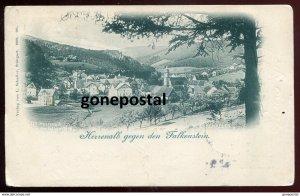 dc1594 - GERMANY Herrenalb 1899 Falkenstein. Panorama