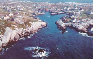 Canada Nova Scotia Peggys Cove Air View Peggys Cove