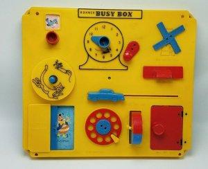 Vintage Kohner Busy Box Crib Playpen Wall Toy No.505 Kohner Bros.