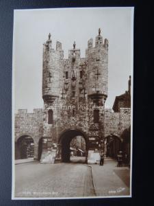 YORK Micklegate Bar - Old RP Postcard by Walter Scott 4838