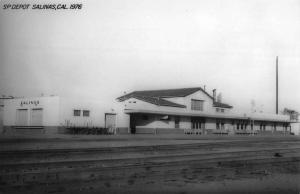 Salinas California SP Railroad Depot Real Photo Vintage Postcard K105469