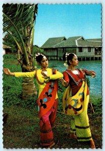 MANILA, PHILIPPINES ~ Muslim Dancers BARANGAY FOLK DANCE TROUPE -4x6 Postcard