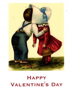 Happy Valentine's Day - Kissing Cute Couple - NEW - Large Size