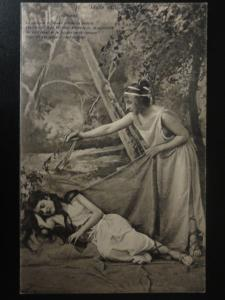 French Romance LL. No.1 Idylle antique, 2 Young Women Celebrate Young Love c1905