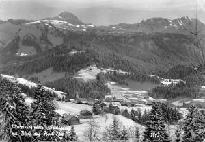 Winter Sibratsgfaell mit Blick auf Hoch Ifen Gesamtansicht