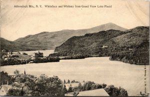 NEW YORK NY RPPC Postcard - WHITEFACE WHITNEY - BIRDS EYE VIEW - LAKE PLACID