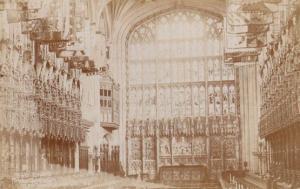 St Georges Chapel The Choir Windsor Castle Antique Real Photo Postcard