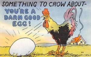 Military Comic Postcard, Old Vintage Antique Post Card Crow About Unused