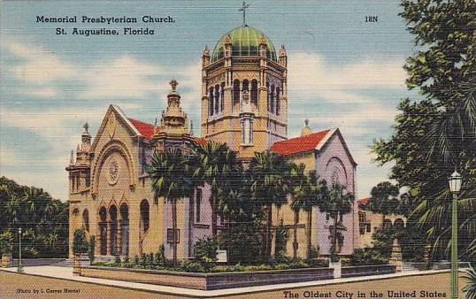 Florida Saint Augustine Memorial Presbyterian Church The Oldest City In The U...