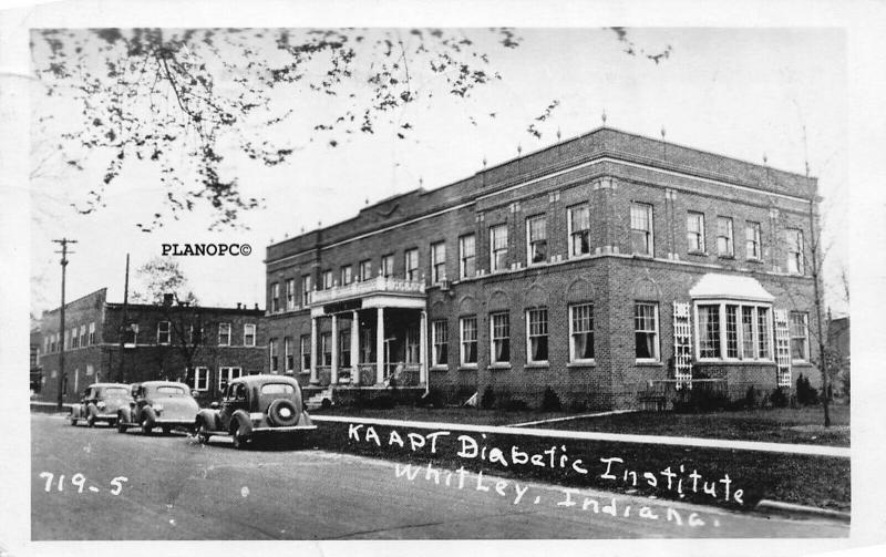 WHITLEY, INDIANA KAAPT DIABETIC INSTITUTE-1946 RPPC REAL PHOTO POSTCARD