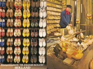 Dutch Clogs Shoe Maker Clog Making Craft Holland 2x Postcard