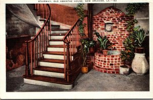 Louisiana New Orleans Old Absinthe House Stairway 1937