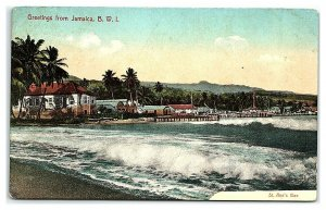 Greetings from Jamaica, St. Ann's Bay Postcard *7C19